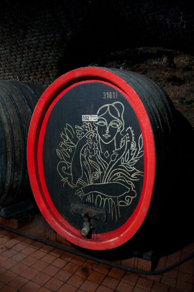 Decorated wine barrel Valtice